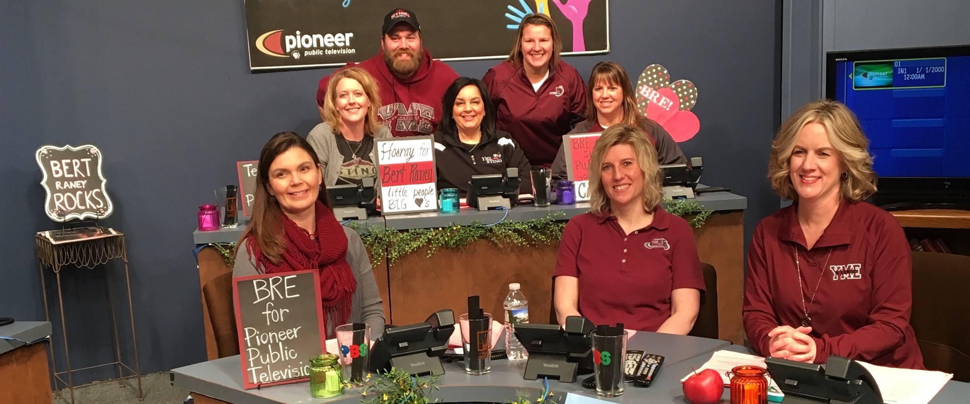 Some BRE Staff volunteered their time at Pioneer Public Television! What a great way to represent BRE!
