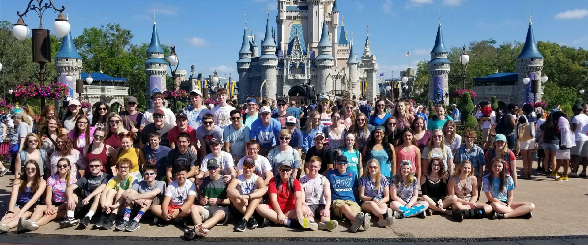 The Band & Choir students enjoying the day at the most magical place on earth! Florida trip 2018.