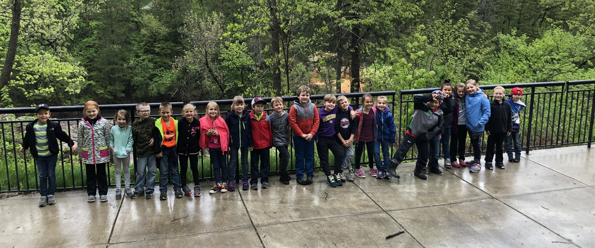 The first graders enjoyed their trip to Ramsey Park in Redwood Falls.