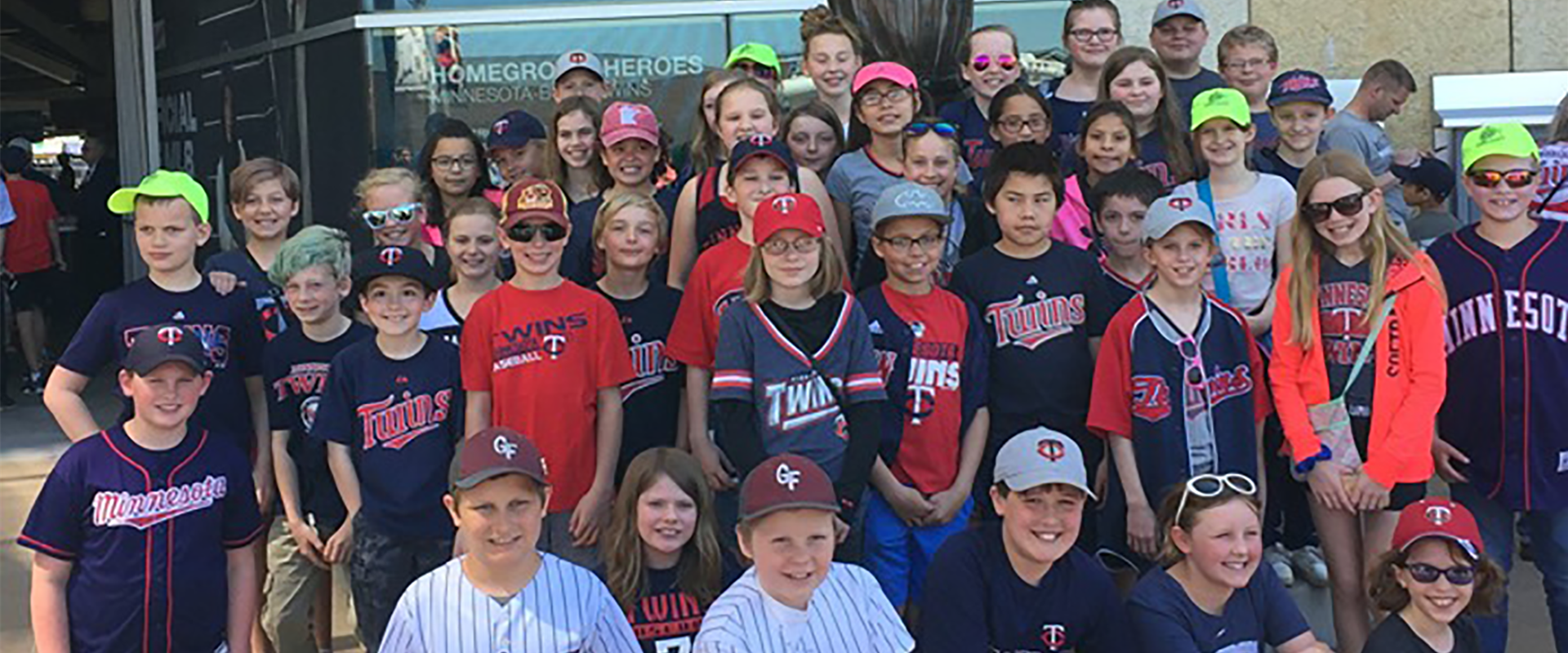 The school patrol got to enjoy a trip to the Twins game! #GoTwins