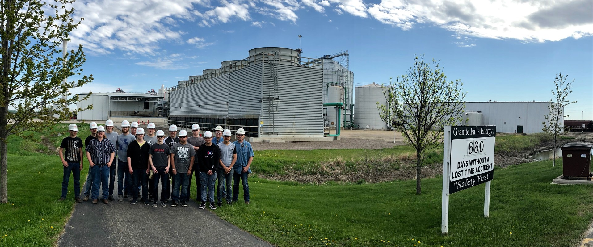 Industrial Construction Methods class toured the Granite Falls Energy Ethanol Plant
