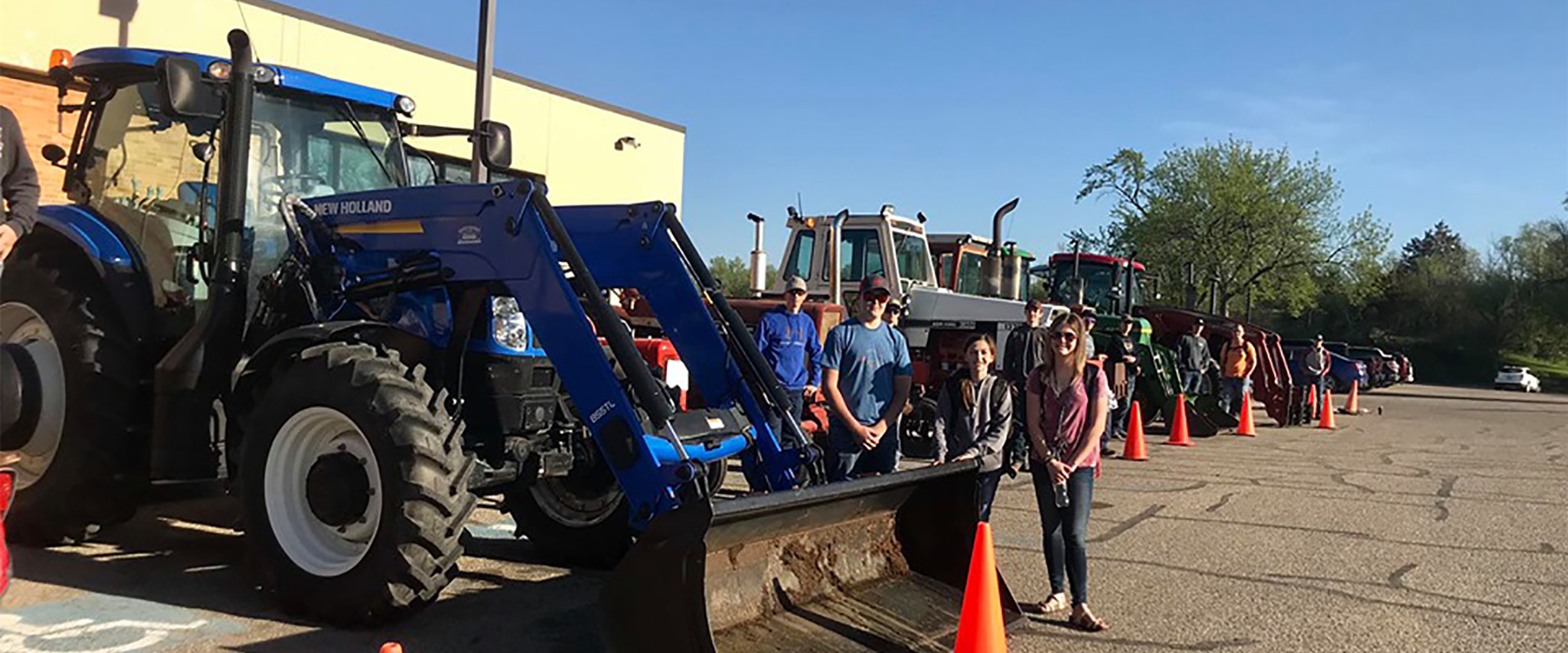"Annual ""Drive Your Tractor To School Day"" during FFA Week!"