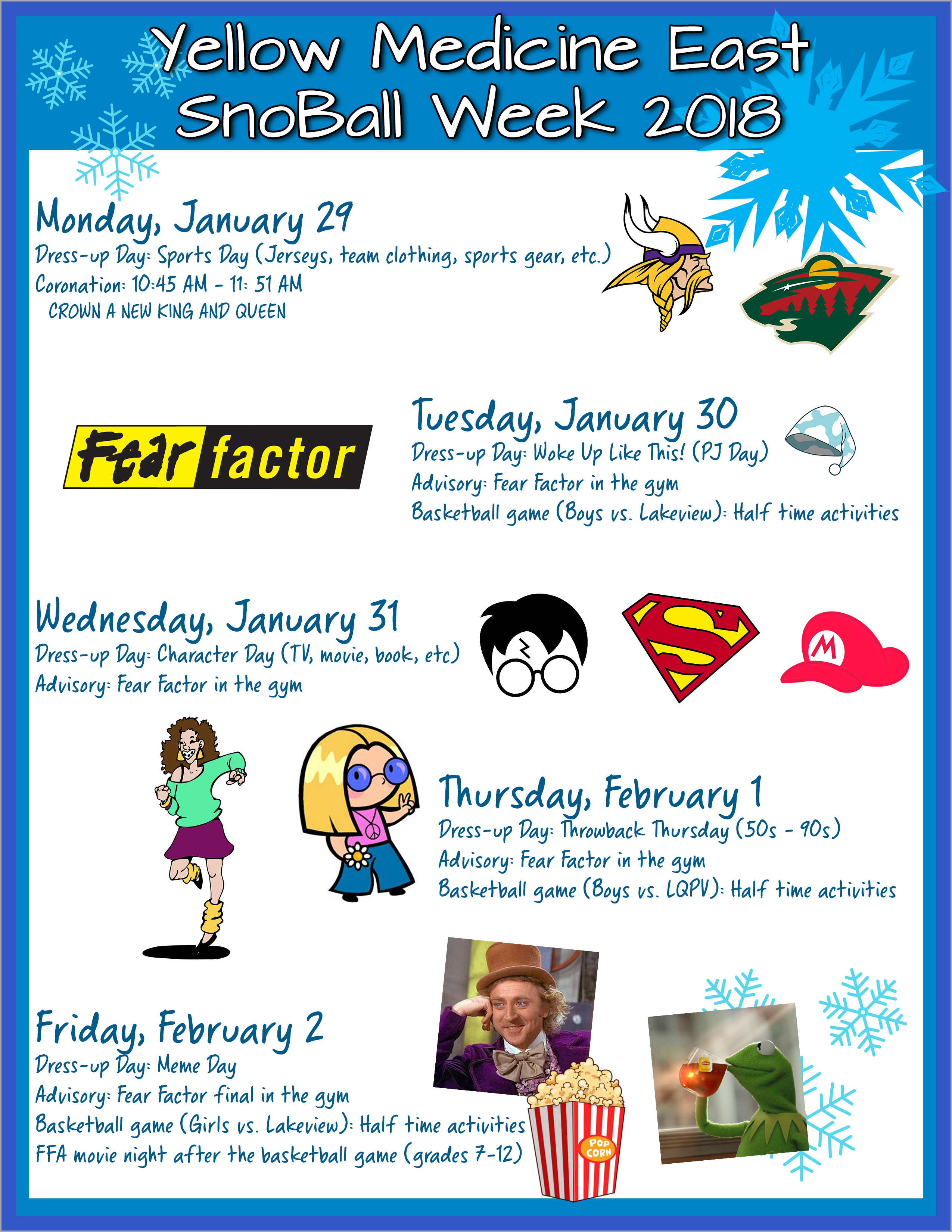 Snoball Week Schedule