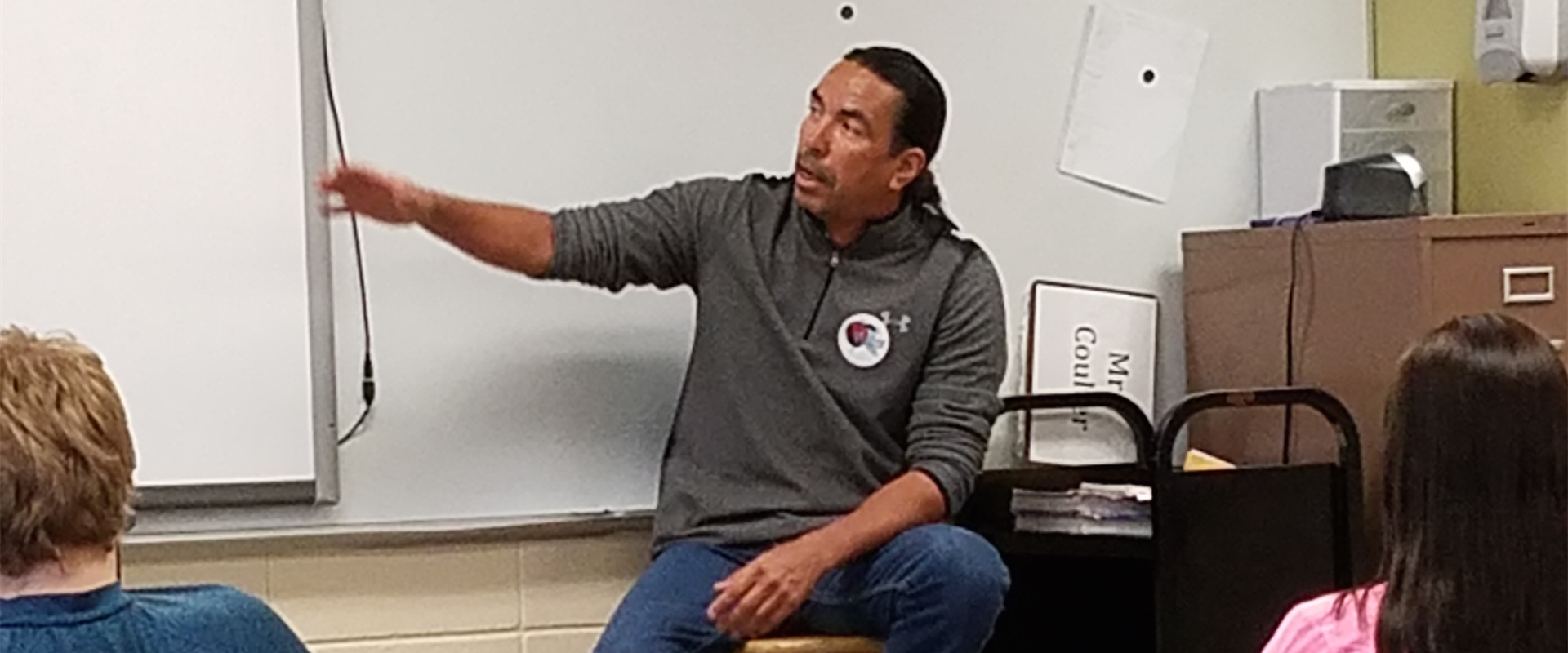 Kevin Jensvold spoke to Mr. Weidauer's Civics classes on Dakota government both past and present. His presentation was very informative and interesting.