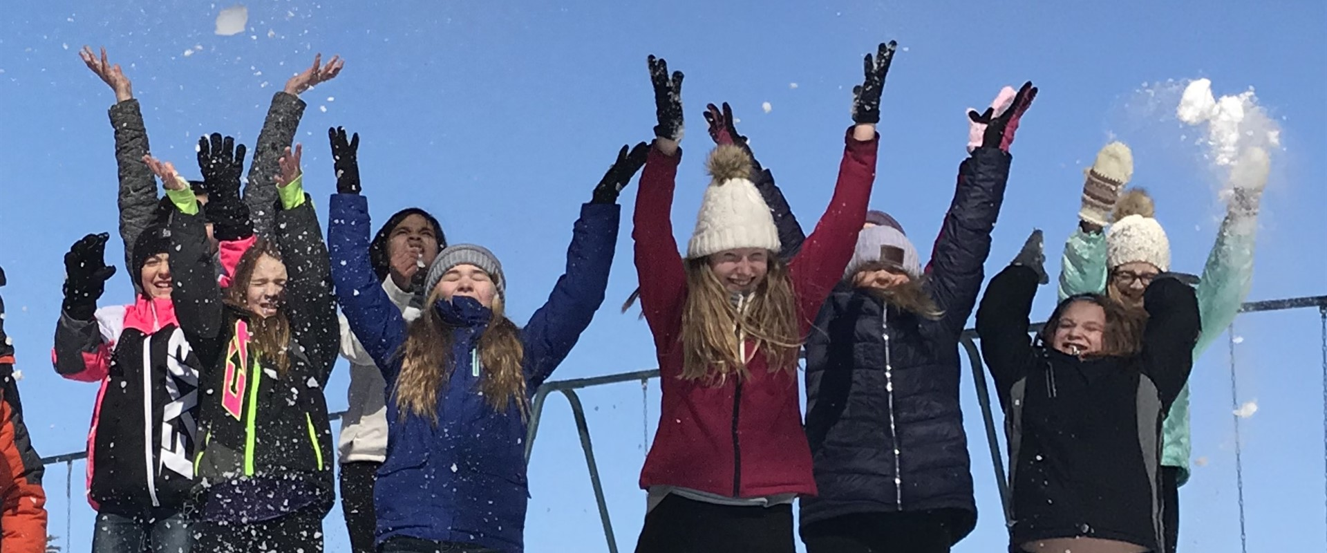 The 6th grade got to enjoy the beautiful Minnesota snowfall!