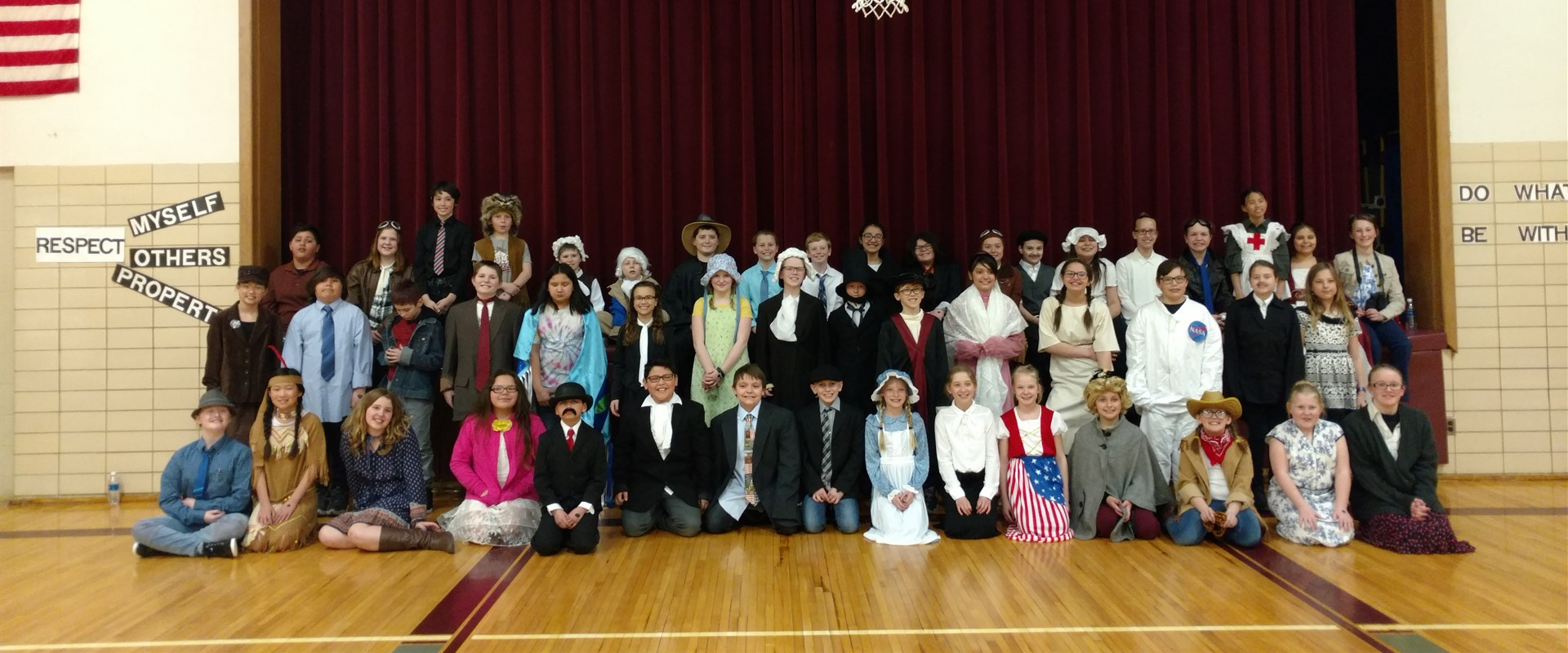 BRE fifth grade presents historical characters in their Wax Museum.